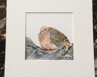 Mourning Dove Original Acrylic Painting, Bird painting, Woodland decor, Woodland art, dove Art, dove painting, love bird, cottage art