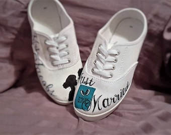 Just married, custom shoes!