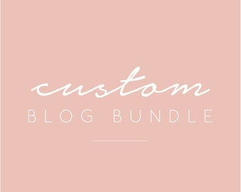 Custom Blog Bundle - Logo, Media Kit + Business Card