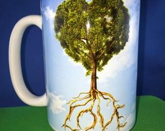 Tree of Love - 15oz Ceramic Coffee Mug.