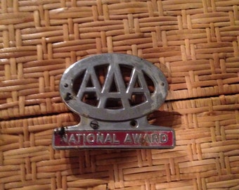 1940's AAA national awards   Automobile license plate topper