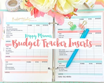 Happy Planner Budget Tracking Printable Planner Inserts PDF Instant Download