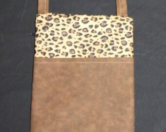 Leopard print runaround bag