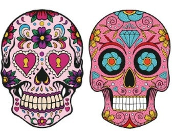 "Cross stitch pattern: ""Mexican Calaveras"""