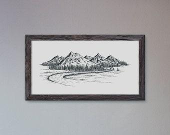 Mountains - Fine Art Digital Giclee Print