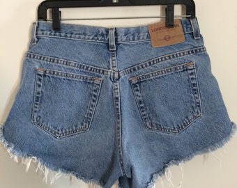 90's high waisted LONDON JEAN denim shorts size 10, 31""