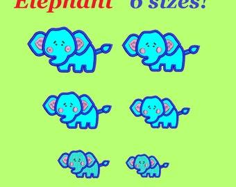 Elephant embroidery designs aplique little elephant design embroidery machine