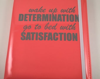 Notebook - Coral - Determination - FREE SHIPPING