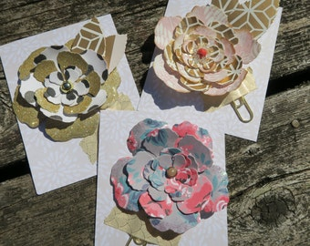 Shabby Chic Flower Planner Clip // Layered Rose Clip