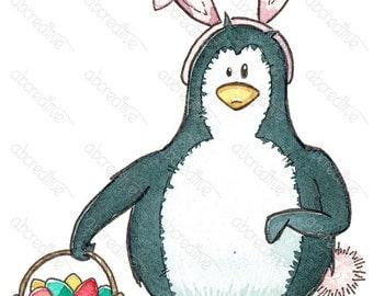 Melvin Penguin Easter Bunny
