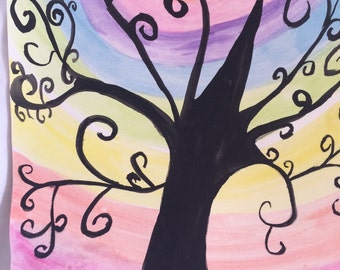 Whimsical tree Print