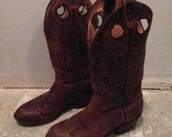 Vintage Cowboy Boots, Size 10 Women's