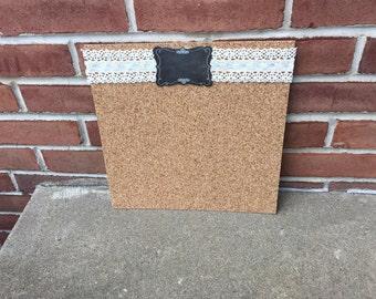 Chalkboard Accented Cork Boards