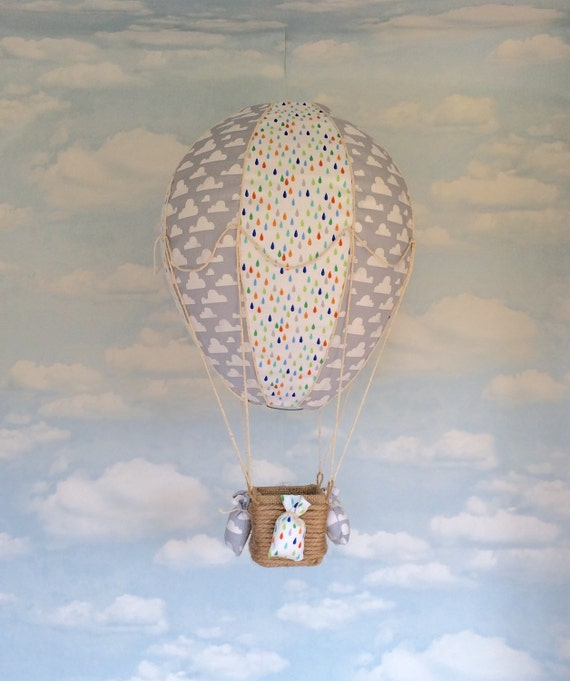 hot air balloon light shade baby mobile nursery decor
