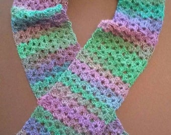 Ladies, teens or girls variegated scarf