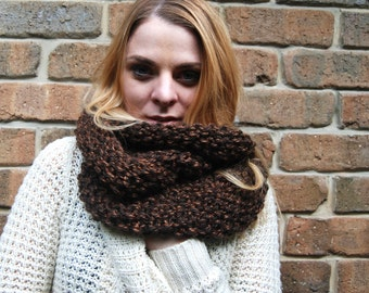 Chunky infinity scarf - 100% handmade **Ready to ship