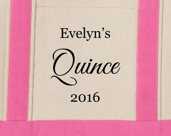 Mis Quince Small Beach Tote Bag