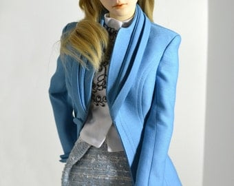 Sky Blue outfit III for BJD Volks sd16, Iplehouse SID
