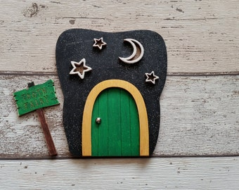 Tooth Fairy door The Moon and the Stars Green