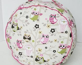 Toddler cushion - floor cushion - floor pillow - owl pillow -  owl decor - toddler seat - toddler pouf - floor pouf - woodland nursery decor