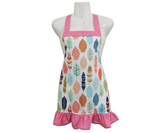 Feathers Kids Apron // Size 4-6-8-Young Adult