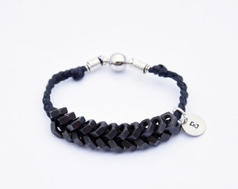 Hex Nut Bracelet - Black on Black