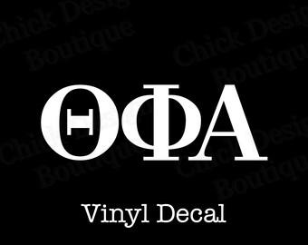 Theta Phi Alpha Greek Alphabet Letters Vinyl Decal