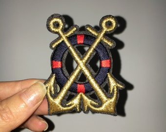 sea anchor boat embroidered patch embroidery patch decorate iron on patch sew on patch