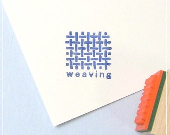 Weaving Rubber Stamp, for price tags, for product tags