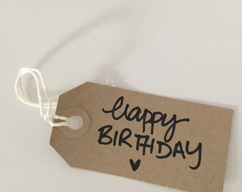 Happy birthday vintage gift tags (10 pieces )