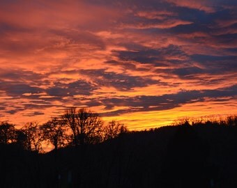 Fall sunset over western Oregon