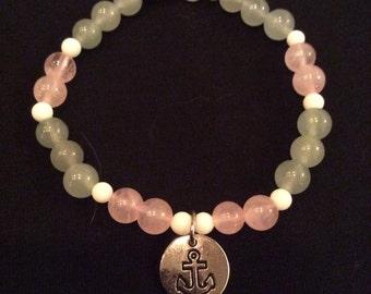 Anchor charm bracelet