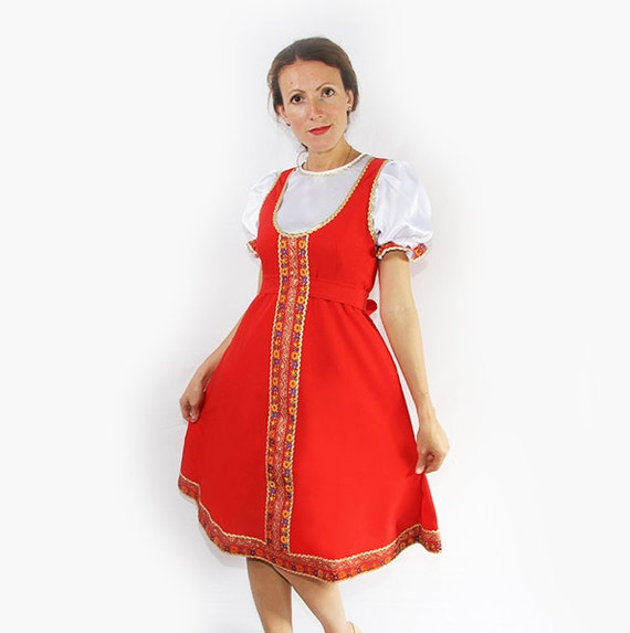 Traditional Russian Dress For Woman Elena Woman