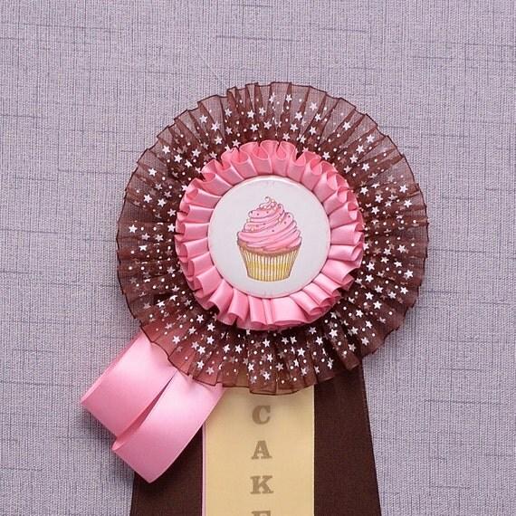 Cake Rosette Award Ribbon Party Prize Ribbon Custom Award