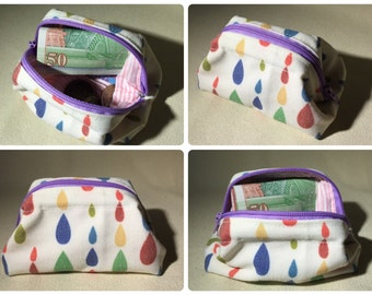 Little coin purse with frame