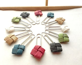 Set of,  paper clip, bookmark, Japanese, gift, favor, rustic, eco friendly