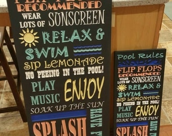Our Pool Rules Sign (Outdoor, Weatherproof!)
