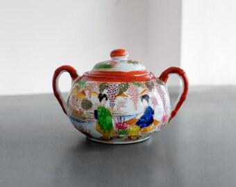 Vintage Japanese Sugar-pot with lid
