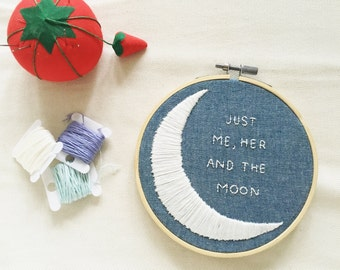 """ONE DIRECTION - """"end of the day"""" embroidery hoop!"""