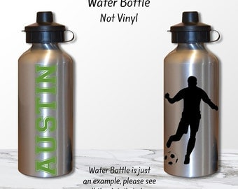 Soccer Gift, Personalized water bottle, soccer water bottle, water bottle, team gift, sports water bottle, custom water bottle, teen gift