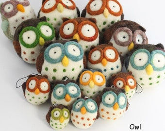 Kit - Needle felting Owl kit