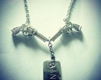 Sterling Silver Gun Gun Bang Bang Necklace