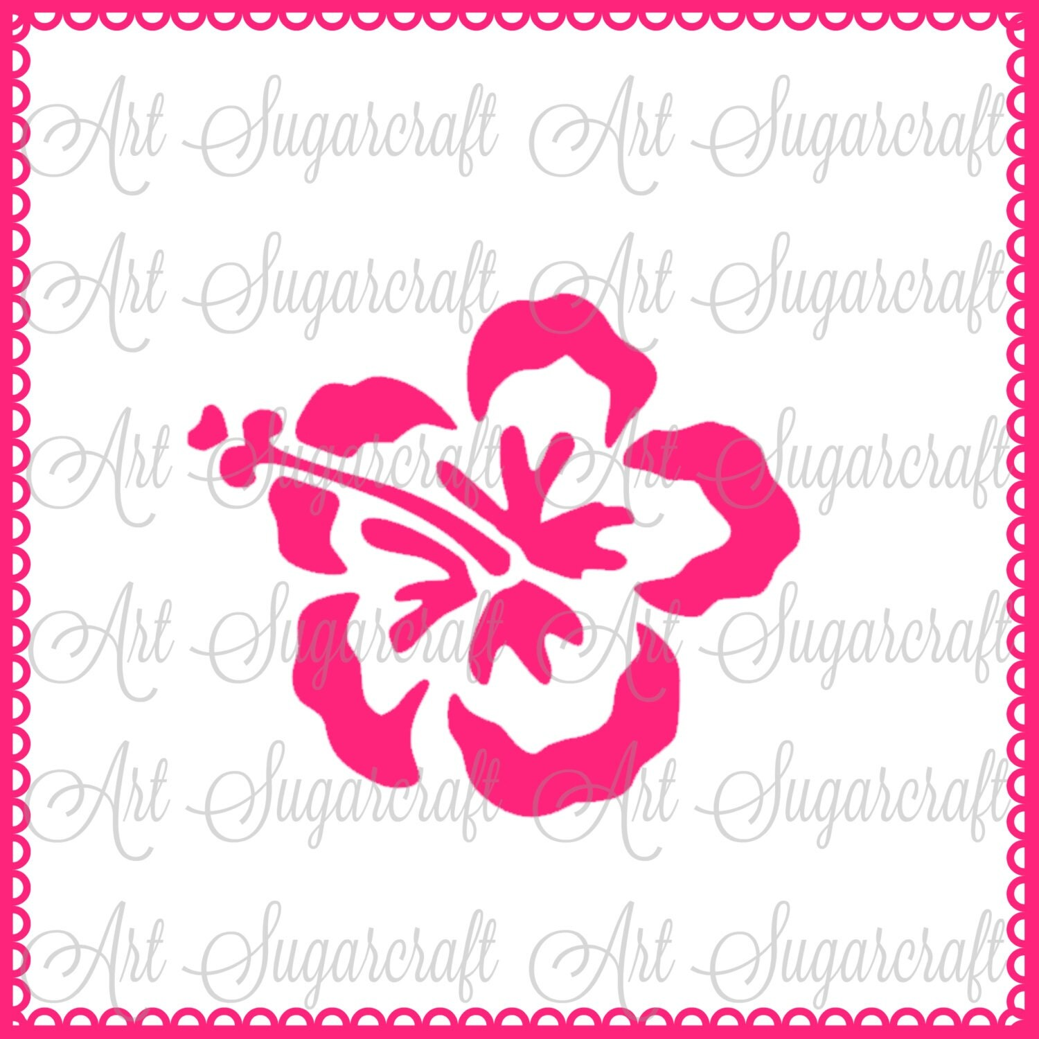 Last bing queries pictures for tropical flower stencils hibiscus hawaiian flower stencil for cookie decorating izmirmasajfo