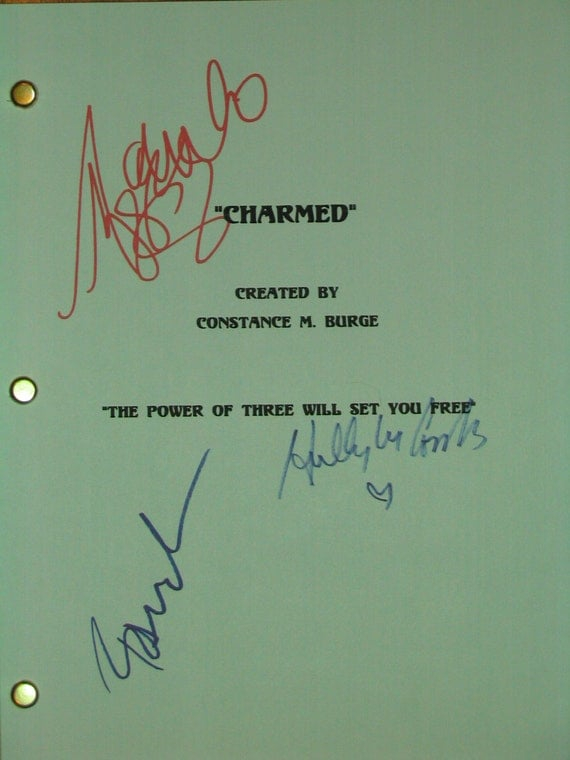 Charmed Signed Finale Script TV Screenplay X3 Alyssa Milano Rose McGowan Holly Combs autograph signature