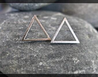 Sleek & Simple Silver Triangle Earrings
