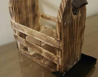 Rustic Wooden Beer Holder/Tote (FREE SHIPPING)