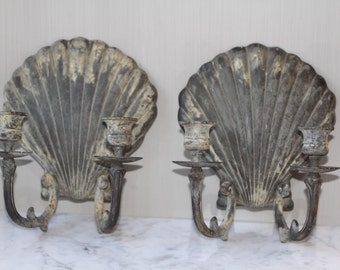 Shell Sconce Candle holders