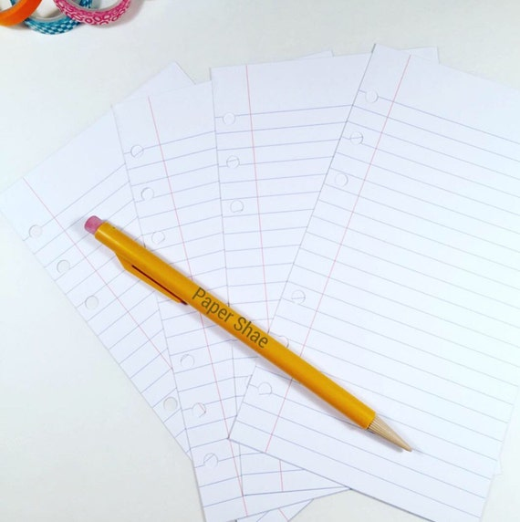 half letter size paper half letter size printed lined notebook paper planner inserts 22065 | il 570xN.995203968 2kja