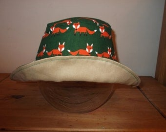 Reversible Sun Hat - FoxyTaupe - Age 6 to 8