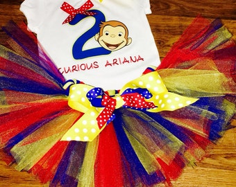 Curious George Birthday Outfit, Curious George TuTu Set